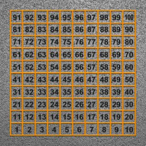 1 to 300 number grid