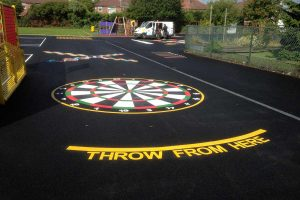 thermoplastic playground dartboard markings