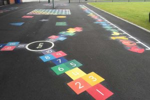 thermoplastic playground hopscotch markings