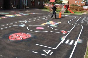 thermoplastic playground road markings