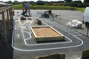 thermoplastic playground road track marking