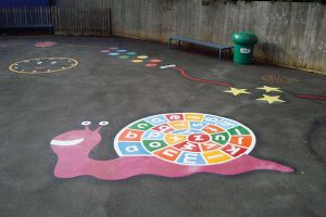 thermoplastic playground snail marking